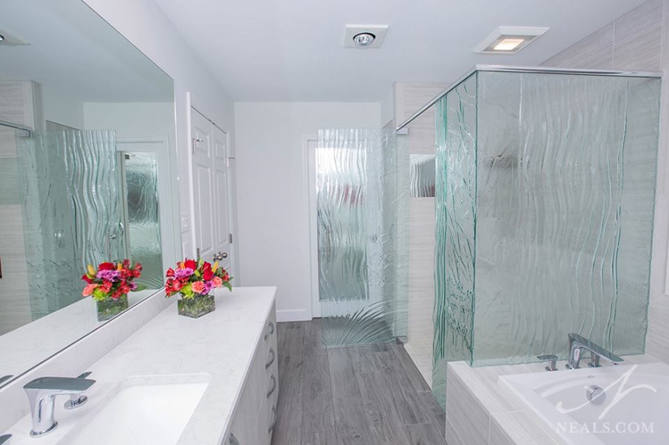 Waterfall Glass Shower