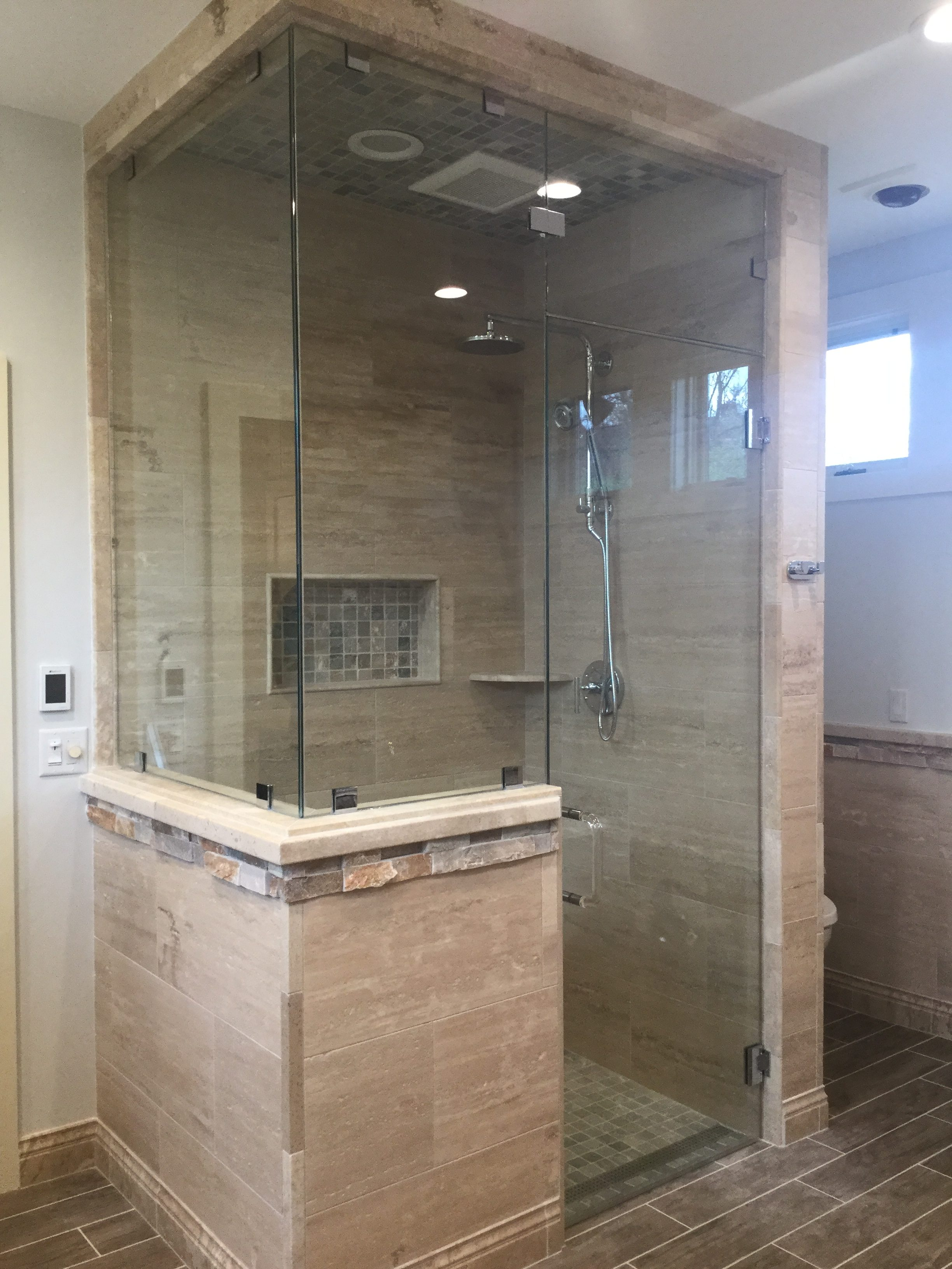 90° Frameless Shower