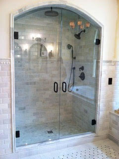 Arched Top Shower